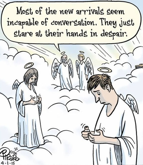 Angels trying to text