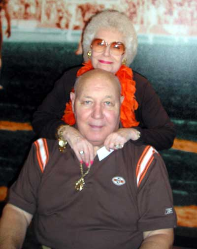 Bob Gain and wife Kity Gain at a Browns Game in 2006