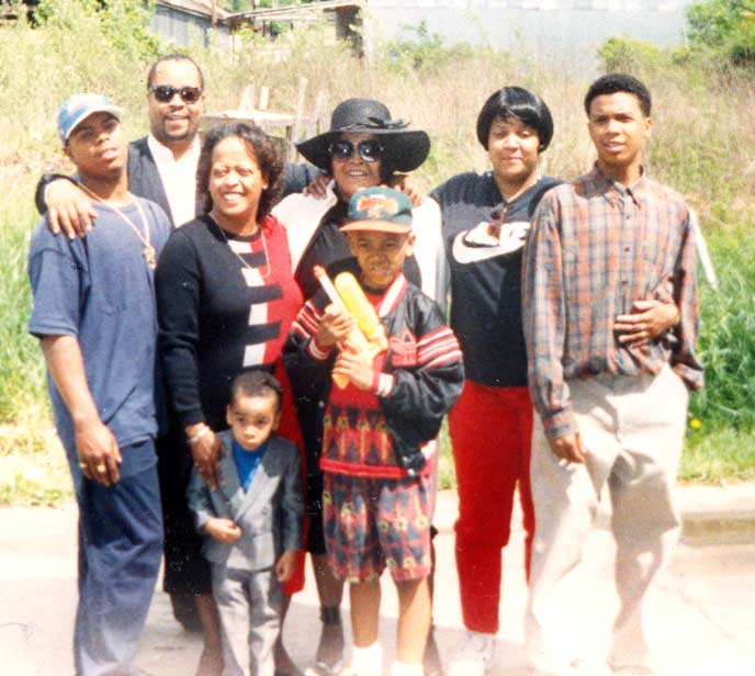 Juanita Carrothers and family