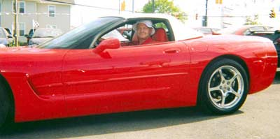 Bob Cerminara and his little red Corvette