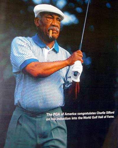 Charlie Sifford in Golf Hall of Fame
