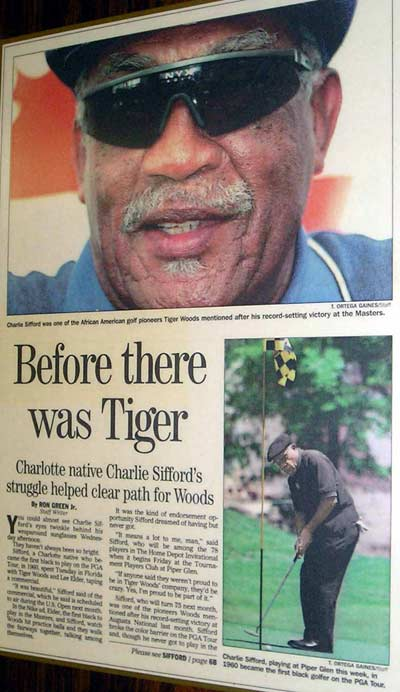 Charlie Sifford - Tiger Woods