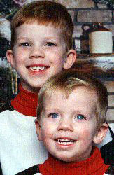 Chris King's grandsons - Tyler and Corey