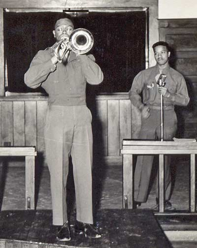Dan Davenport playing trumpet