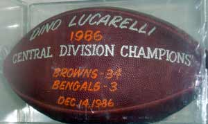 Cleveland Browns 1986 Central Championship Ball