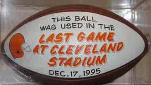 Ball from the last Cleveland Browns game