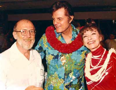 Hawaii Five-O's Jack Lord and wife Marie Lord and Jim Doney