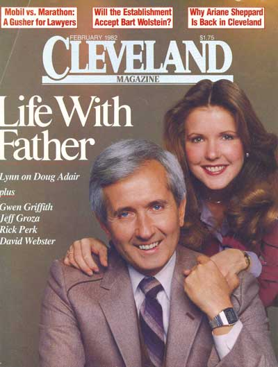 Doug Adair with daughter Lynn on cover of Cleveland Magazine February 1982