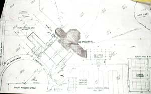 Blueprints of the new home of the West Side Irish American Club