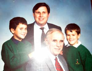 Eddie Campbell with son Tom and grandsons