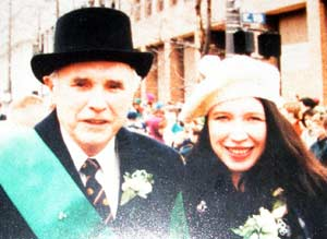 Grand Marshall of the St Patricks Day Parade Eddie Campbell with daughter Mary
