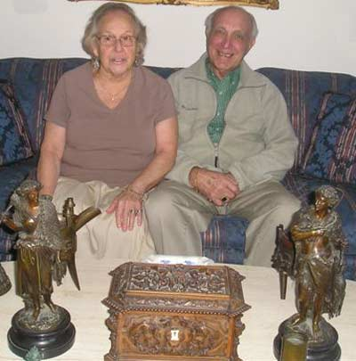 Nina and George Weidinger at home in 2008