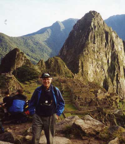George Weidinger at Machu Picchu