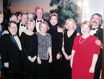George Condon Family with President Bill and Hillary Clinton