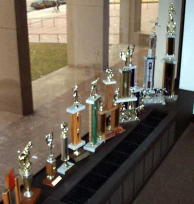 Some trophies from Sherrif Gerald McFaul's office