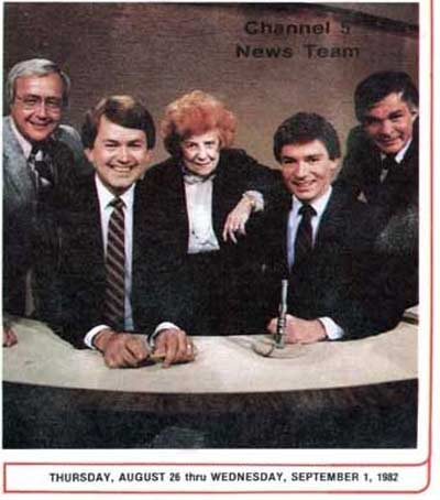 The Channel 5 gang from 1982 - Gib Shanley, Ted Henry, Dorothy Fuldheim, Jeff Manor and Don Webster