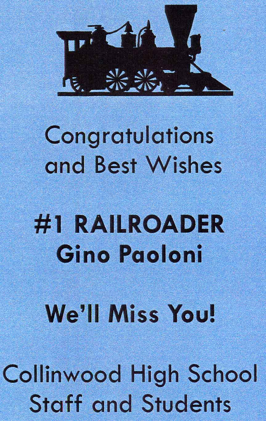 Collinwood High School Gino Paoloni
