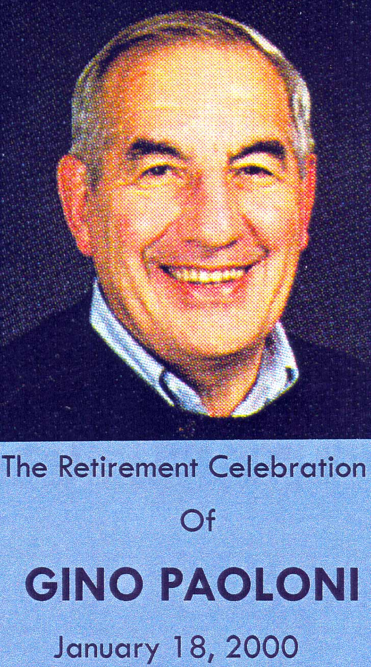 Gino Paoloni retirement