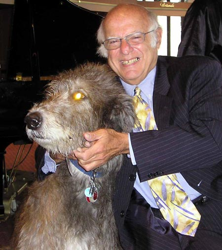 Harlan Diamond and Irish Wolfhound, Mickey