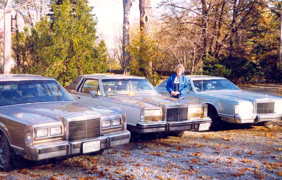 Helen Bacon with her big cars