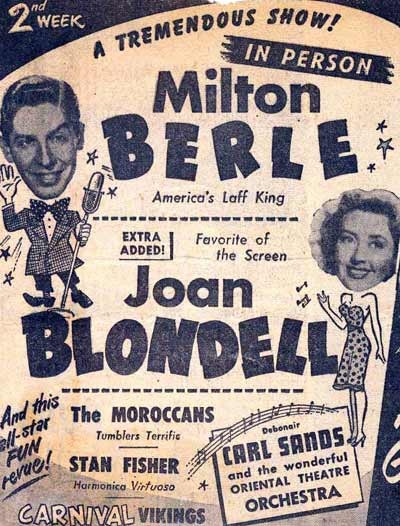 Milton Berle and Joan Blondell