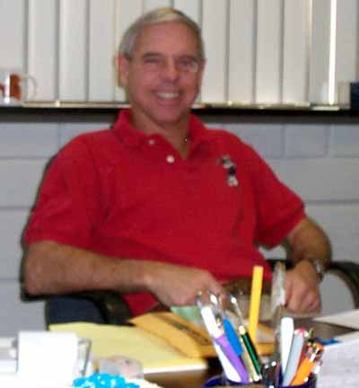 Dudley Humphrey at his desk