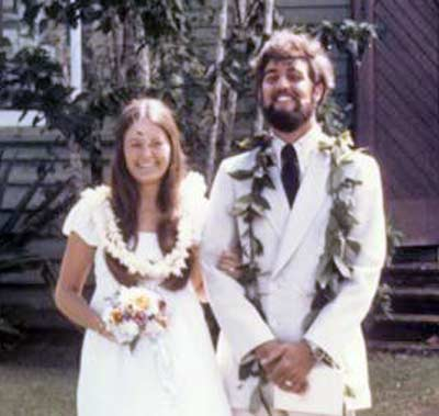 Cindy and Jim Cookinham's wedding in 1972