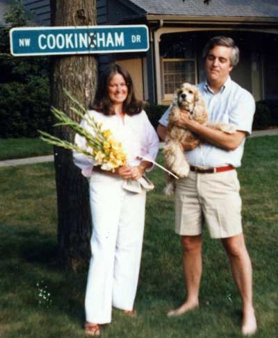 Cindy and Jim Cookinham in Poland, Ohio in 1985