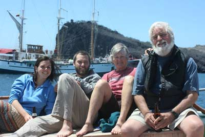 The Cookinhams in the Galapagos in 2007