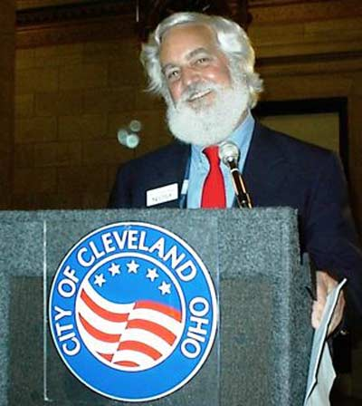 Jim Cookinham speaking at Cleveland City Hall