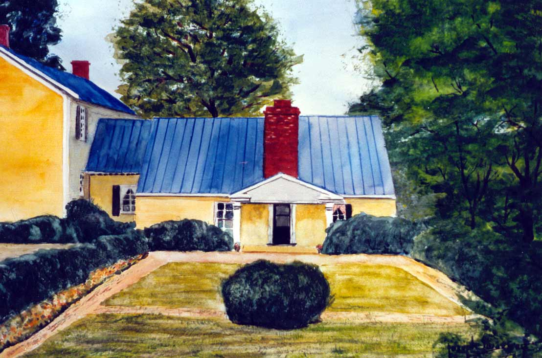Watercolor of President James Monroe's house