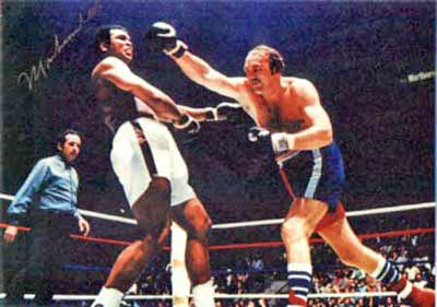 Muhammad Ali and Chuck Wepner - Rocky- at Richfield Coliseum
