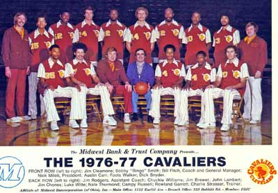 Cleveland Cavaliers team photo 1976-1977