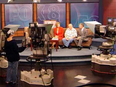 Neil Zurcher on Fox 8 Morning Show set