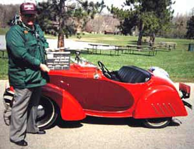 Neil Zurcher with 1940 American Bantam Roadster