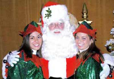 Santa Claus and female elves