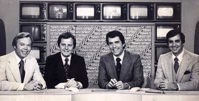 Dick Goddard, Tim Taylor, Judd Hambrick and Jim Mueller in 1979