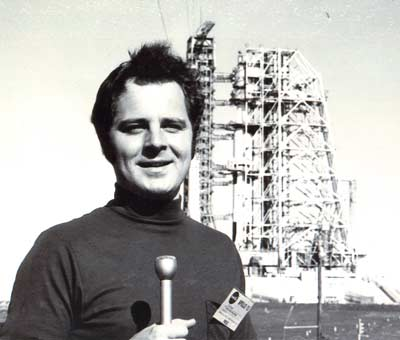 Tim Taylor on Launch Pad 39A for the Apollo 13 lift-off on April 11, 1970