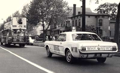 Tim Taylor drove the WHK news cars, a 1965 Mustang, to cover the Hough riots in summer 1966